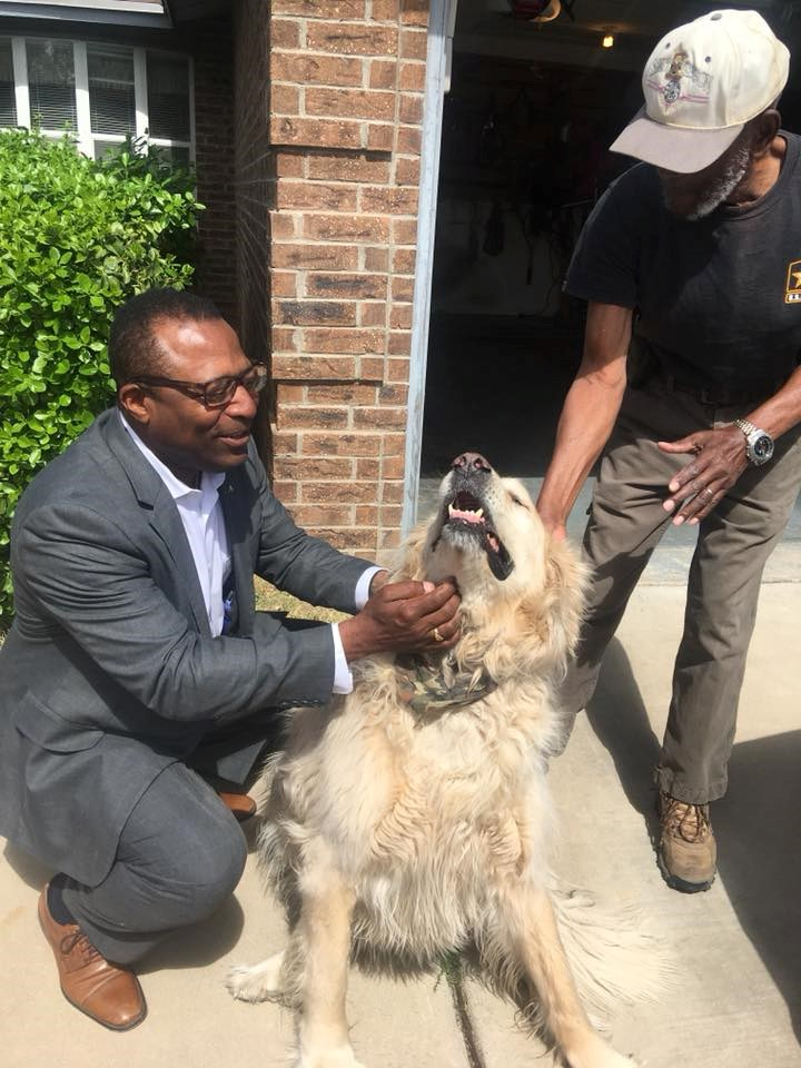 Meeting with Constituents and their Canine Companions