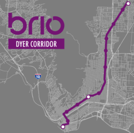 Map of Dyer BRIO